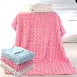DV_ Rose Velvet Infant Baby Blanket Toddler Stroller Sleepin