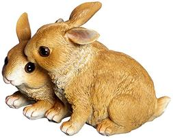 Easter Decor Brown Bunnies Joined Together Figurine