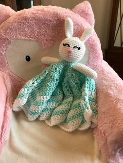 Easter Gift - Handmade Crochet Easter Bunny & Lovey Blanket