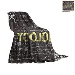 Educational Digital Printing Blanket Black Chalkboard Biolog