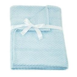 Cozy Bed Egyptian Cotton Baby Blanket, Blue