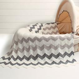 Cozyholy Elegant Knit Blankets Soft Fancy Baby Throw for Cri