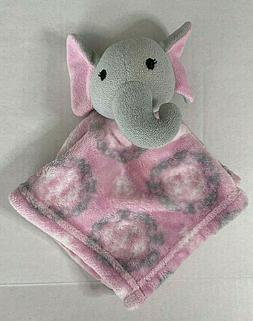 Hudson Baby Elephant Baby Security Blanket Pink Grey Baby To