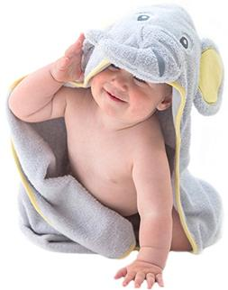 Little Tinkers World Elephant Hooded Baby Towel, Natural Cot