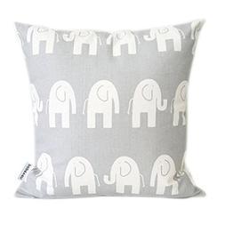 Popeven Elephant Pillow Covers Grey Home Decorative Cushion