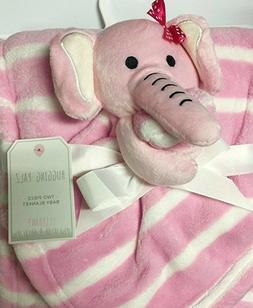 Baby Elephant Pink Two Piece Baby Blanket