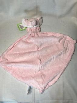 Angel Dear Elephant Pink White Lovey Security Blanket Plush