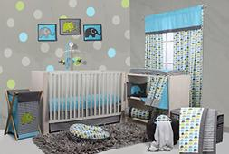Bacati Elephants Crib Set Baby Blanket