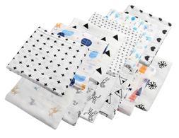 Ellen + Allen 100% Cotton Muslin Swaddle Blanket  46x46 +1 F