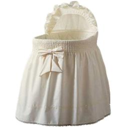 aBaby Embossed Damask Creation Bassinet Liner/Skirt and Hood