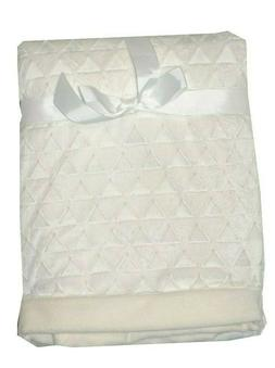Starting Out Embossed Triangles  Baby Blanket - Ivory - Unis