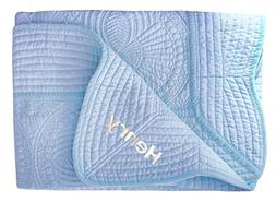 Embroidered Lightweight Baby Blankets Nursery Blanket New Ba