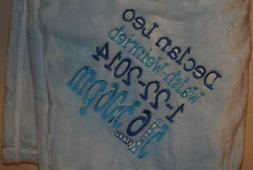 Embroidered Monogrammed Baby Blanket Tahoe Fleece Soft -Birt