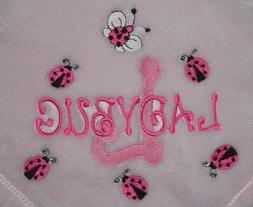 Embroidered Monogrammed Baby Blanket Tahoe Fleece Soft -Lady