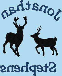 Embroidered Monogrammed Baby Blanket Tahoe Fleece Soft -Deer