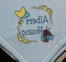 embroidered monogrammed baby blanket tahoe fleece soft
