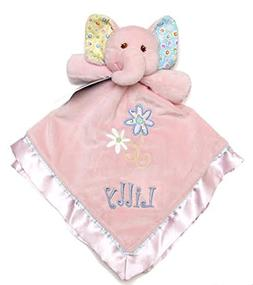 PERSONALIZED Embroidered Monogrammed ELLA BELL Pink Elephant