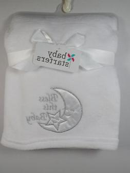 New Baby Starters Embroidered Moon & Star BLESS THIS BABY Pl