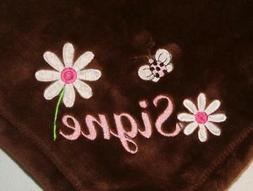 Embroidered Personalized Monogrammed Baby Blanket Stroller F