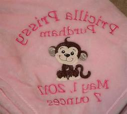Embroidered Personalized Monogrammed Baby Blanket Stroller G