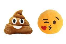 Emoji Pillow Set - Smiley Emoticon Throw Pillow Cushion Stuf