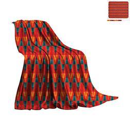 Ethnic Custom Design Cozy Flannel Blanket Aztec Culture Insp