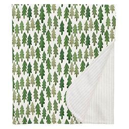Carousel Designs Evergreen Forest Crib Blanket