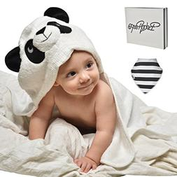 EXTRA absorbent Organic bamboo baby hooded bath towel - Supe