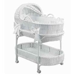 BabyDoll Fairyland Bassinet Bedding Set White