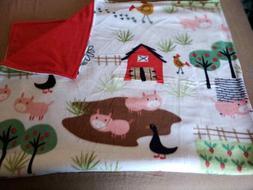 farm animals baby blanket