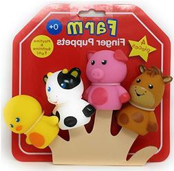 Rashti & Rashti - FARM FINGER PUPPETS 4 PIECES - Palytime &