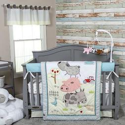 Trend Lab Farm Stack 4 Piece Crib Bedding Set, Multi