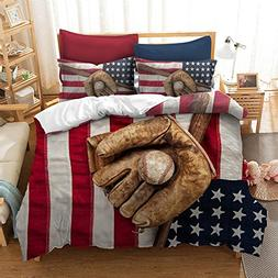 Fascinating Baseball Glove American Flag Cotton Microfiber 3