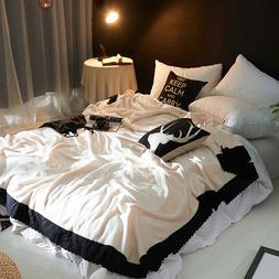 Fashion Lace Creamy White Soft Faux <font><b>Mink</b></font>