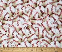 FAT QUARTER  BASEBALL BASEBALLS  SPORTS FABRIC MLB  HI FASHI