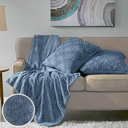 Comfort Spaces Faux Fur Throw Blanket Set – Ogee Fluffy Pl