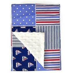 Final Swaddling Blankets Sale Warm Minky Plush Baby Navy 30x