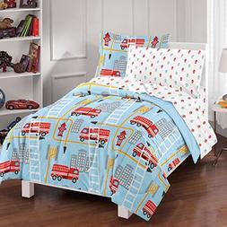 Dream Factory® Fire Truck Comforter Set