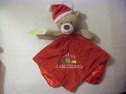 Babys My First Christmas Plush Teddy Bear Santa Snuggle Blan