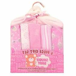 Snugly Baby First Receiving Blankets 6 Pieces Gift Set New