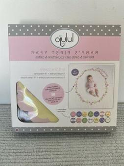New lulujo Baby Babys First Year Milestone Blanket and Cards