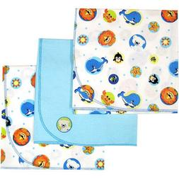 Fisher Price - Set of 3 Precious Planet Flannel Receiving Bl