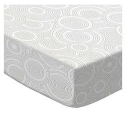 SheetWorld Fitted Basket Sheet - Grey Multi Circles - Made I