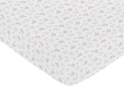 Sweet Jojo Designs Fitted Crib Sheet for Shabby Chic Alexa B