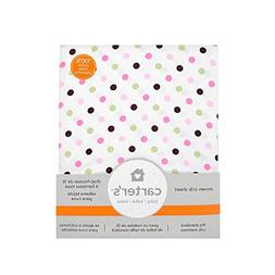 Carter's Fitted Crib Sheet Pink Dots Pack of 2