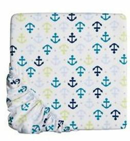 CIRCO Fitted Crib Sheet Whales n Waves Nursery Toddler bed a