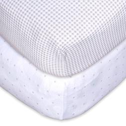 Fitted Crib Sheets  | Premium 100% Jersey Cotton | Toddler &