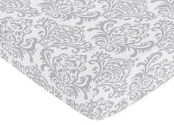 Fitted Crib Toddler Sheet For Sweet Jojo Designs Skylar Bedd