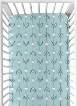 Fitted Crib Toddler Sheet For Sweet Jojo Design Earth & Sky