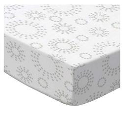 SheetWorld Fitted Pack N Play  Sheet - Grey Dot Circles - Ma